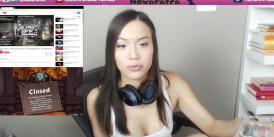 Girl forgets to turn stream off